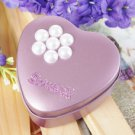 Lilac Heart Shaped Favor Tin With Pearl Flower (Set of 6)