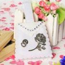 Silver Rose Favor Bag (Set of 12)