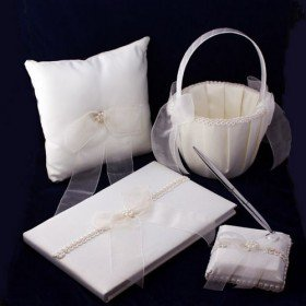 """""""Tied with a Bow"""" Wedding Accessory Collection (Four Piece Set)"""