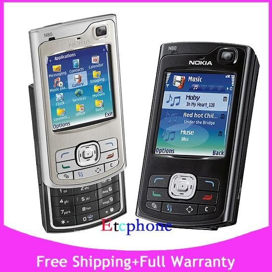 NEW UNLOCKED NOKIA N80 3G WiFi AT&T T-MOB O2 CELL MOBILE PHONE