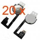 20pcs Home Button Flex Cable Ribbon 4 Apple iPhone 4 4G