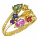 Rainbow Sapphire Multicolor Fireworks Ring 18K Yellow Gold (1.5ct tw) SKU: 1601-18K-YG