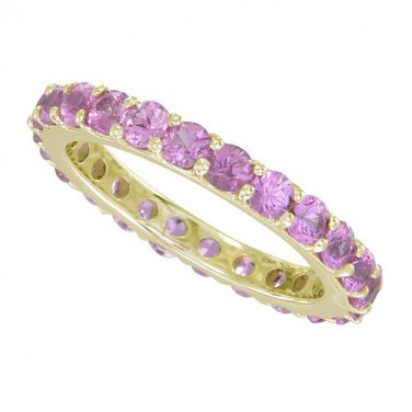 Pink Sapphire Eternity Ring 14K Yellow Gold (5ct tw) SKU: 1862-14K-YG