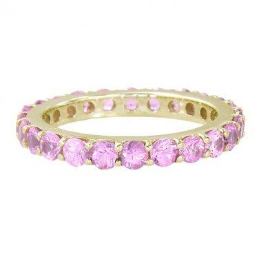 Pink Sapphire Eternity Ring 18K Yellow Gold (5ct tw) SKU: 1862-18K-YG