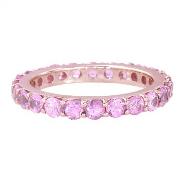 Pink Sapphire Eternity Ring 18K Rose Gold (5ct tw) SKU: 1862-18K-PG