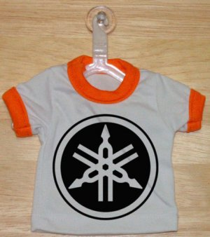 Yamaha Logo Mini T-Shirt With Hanger (ORANGE)