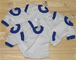 Mini T-Shirt With Hanger And Suction Cup (BLUE)
