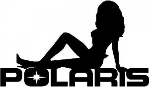 Polaris Sexy Girl Decal