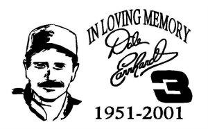 Dale Earnhardt In Memory Decal