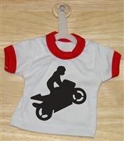 Superbike Wheelier Mini T-Shirt With Hanger (Red)
