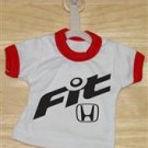 Honda Fit Logo Mini T-Shirt With Hanger (RED)
