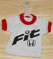 Honda Fit Logo Mini T-Shirt With Hanger (RED)