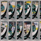 2010-11 OPC San Jose Sharks Base Team Set 16-Cards