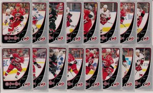 2010-11 OPC Carolina Hurricanes Base Team Set 16-Cards
