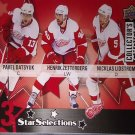 09-10 Collector's Choice 211 DatsyukZetterberg Lidstrom