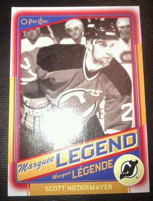 2012-13 O-Pee-Chee Scott Niedermayer #528 Legend Red Border