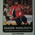 2010-11 O-Pee-Chee Season Highlights Alex Ovechkin #SH2