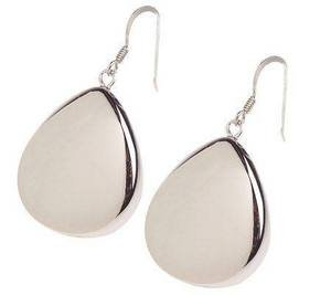New Ross-Simons Bold Sterling Puffed Teardrop Earrings