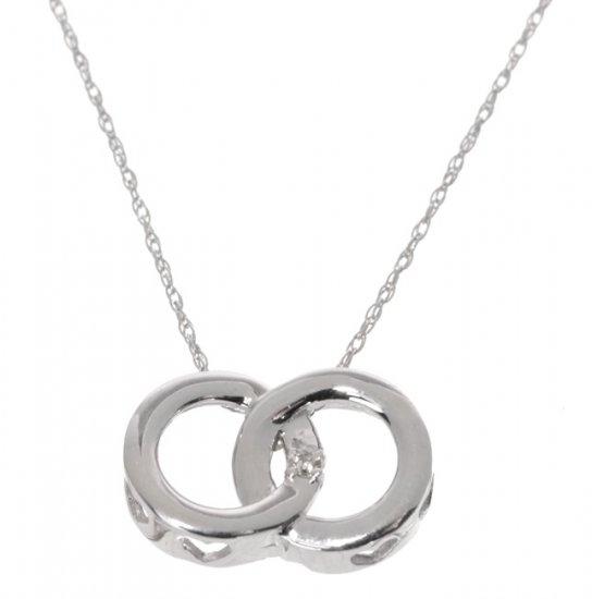 New 14kt & Diamond Heart Design Circle of Love Pendant