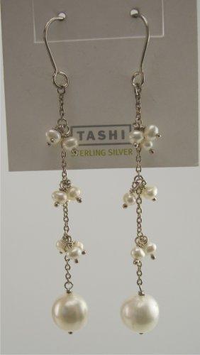New Tashi Canadian Designer Sterling & Pearl Drop Earrings