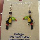 New Sienna Sky Artistic Enamel Sterling Toucan Earrings
