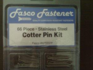 66 Piece Cotter Pin Kit