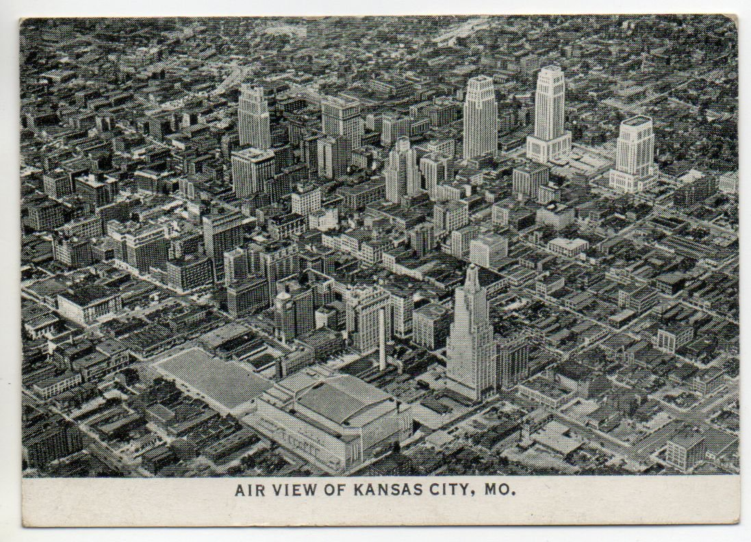Vintage black white pocket photo of kansas city for Craft stores in kansas city