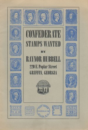 Confederate Stamps Wanted by Raynor Hubbell, Vintage 1950