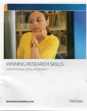 Winning Research Skills: Professional Legal Research
