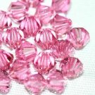 12 SWAROVSKI CRYSTAL ROSE- 4MM BICONE BEADS