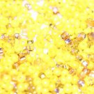 MIXED YELLOW GLASS SEED BEADS