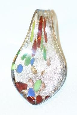 BROWN GLASS SPOON PENDANT