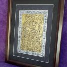 NEW SALE FRAMED BRASS RUBBING ST.GEORGE &DRAGON CELTIC