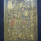 ST.GEORGE & DRAGON MEDIEVAL BRASS RUBBING COAT OF ARMS