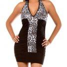 Zebra Dress - Black, White (S-M-L)
