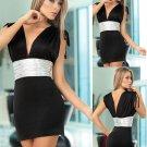 Black & Silver Club Dress
