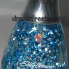 Sally Hansen Diamond Strength Jewel Overcoat *LET'S DANCE* Blue & Silver Glitter