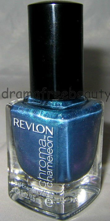 Revlon Lmtd Ed. Chroma Chameleon Nail Polish *AQUAMARINE* Aqua Blue Duo-Chrome