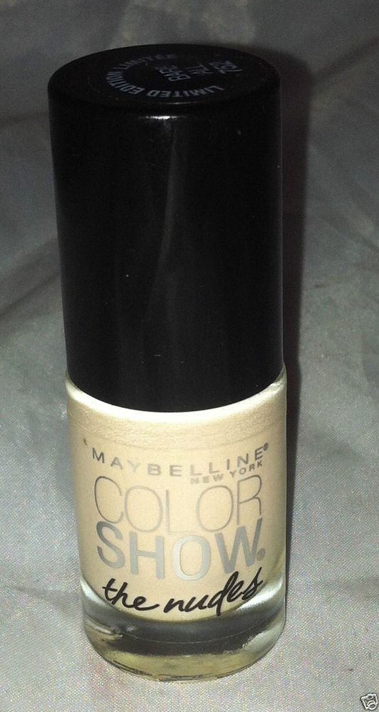 Maybelline Nail polish Color Show The Nudes *752 BARE ALL* Brand New