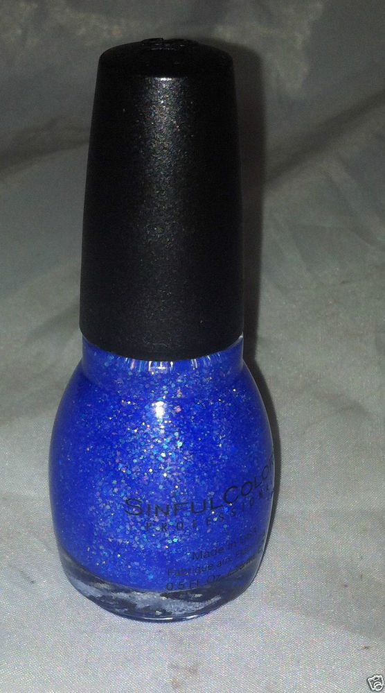 Sinful Colors Nail Polish Color * 831 HOTTIE * Blue Jelly Base w/ Iridescent New