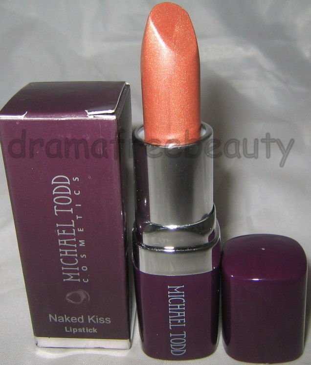 Michael Todd Anti-Aging Naked Kiss Lipstick *JOY* Shimmery Golden Beige/Nude NIB