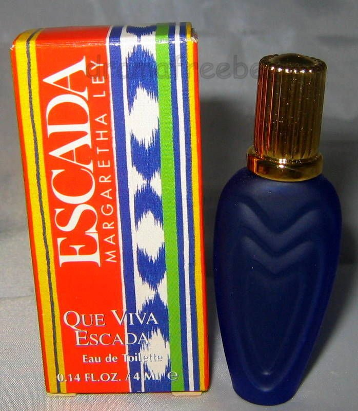 Escada Eau De Toilette * QUE VIVA ESCADA * 4ml. Deluxe Travel Mini Perfume BNIB