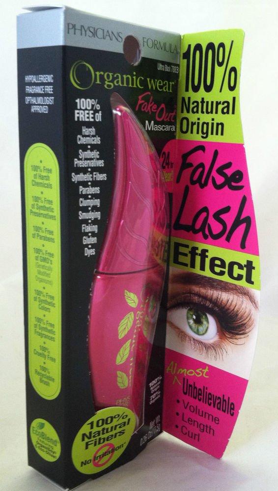 Physicians Formula Organic Wear Fake Out Mascara Ultra Black 7883 24hr Wear New