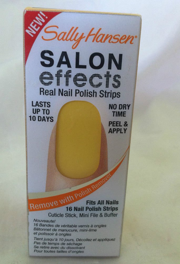 Sally Hansen Salon Effects Nail Polish Strips #170 *SQUEEZED* Yellow/Orange BNIB
