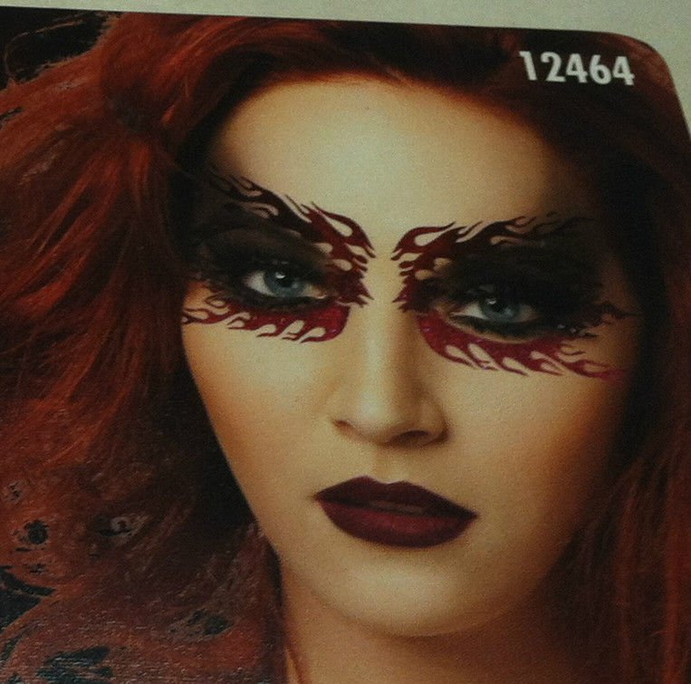 Fantasy Makers Deilish Diva Cosmetic/Stencil Kit Glitter Palettes Eyeliner BNIB