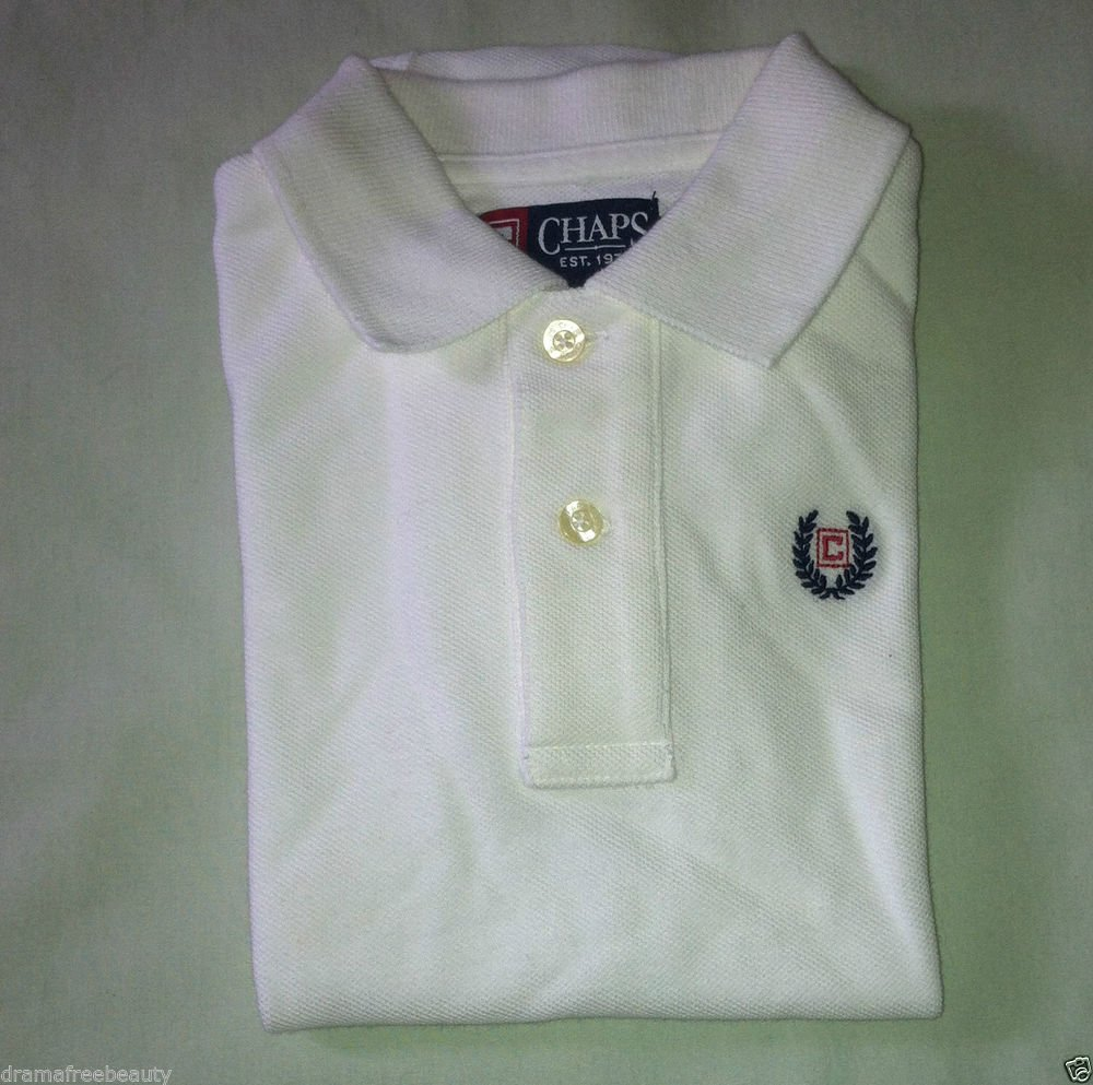White Boys Short Sleeve Ralph Lauren CHAPS Polo-Style One Piece 18 Months BNWT