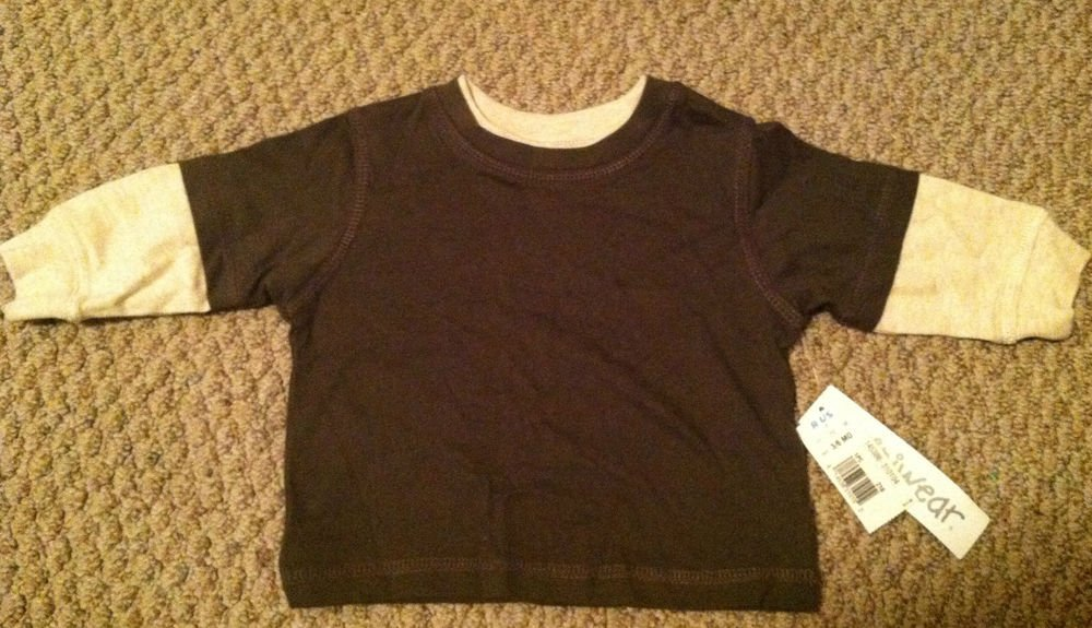 Miniwear Boys/Toddlers/Infants 3-6 Month Long Sleeve Shirt/Top BNWT Olive Green
