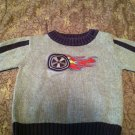 Gymboree Boys/Toddlers Knit Sweater 12-18 months Gray with Flaming Tire