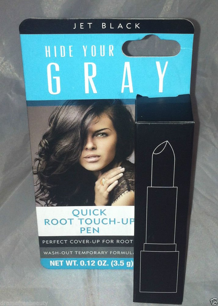 Root Touch Up Pen * JET BLACK * Hair Color Hide Your Gray Brand New Wash-Out