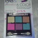 L.A. Colors 6 Color Eyeshadow Palette Set * BEP415 EYE CANDY * Long Lasting New